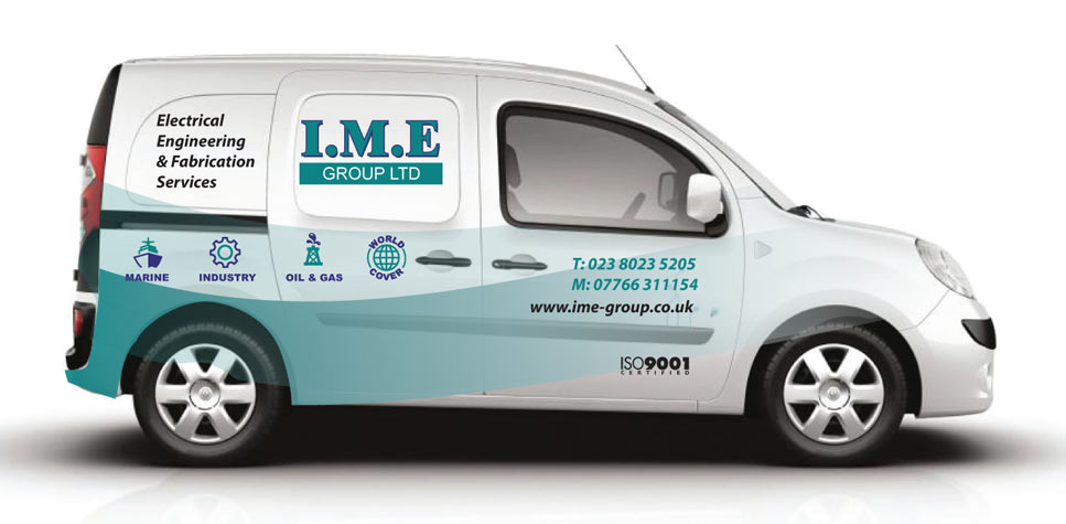 vehicle graphics design IME repair services vehicle graphics-side-view-mark-eslick-graphics