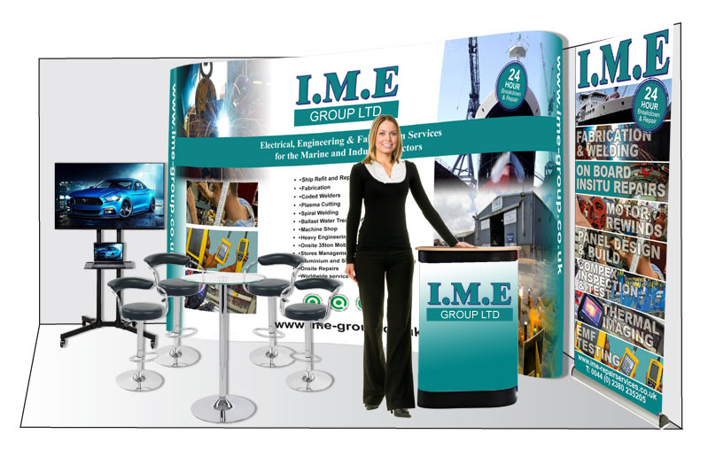 IME GROUP EXHIBITION DESIGN GRAPHICS BY MARK ESLICK GRAPHICS