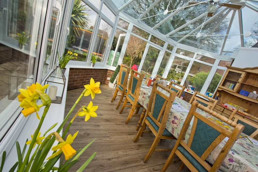 conservatory of childrens home photography hampshire