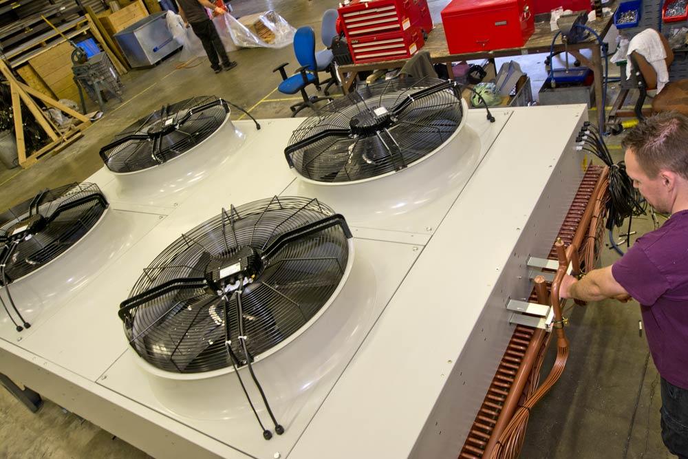 Close up of heat exchange unit