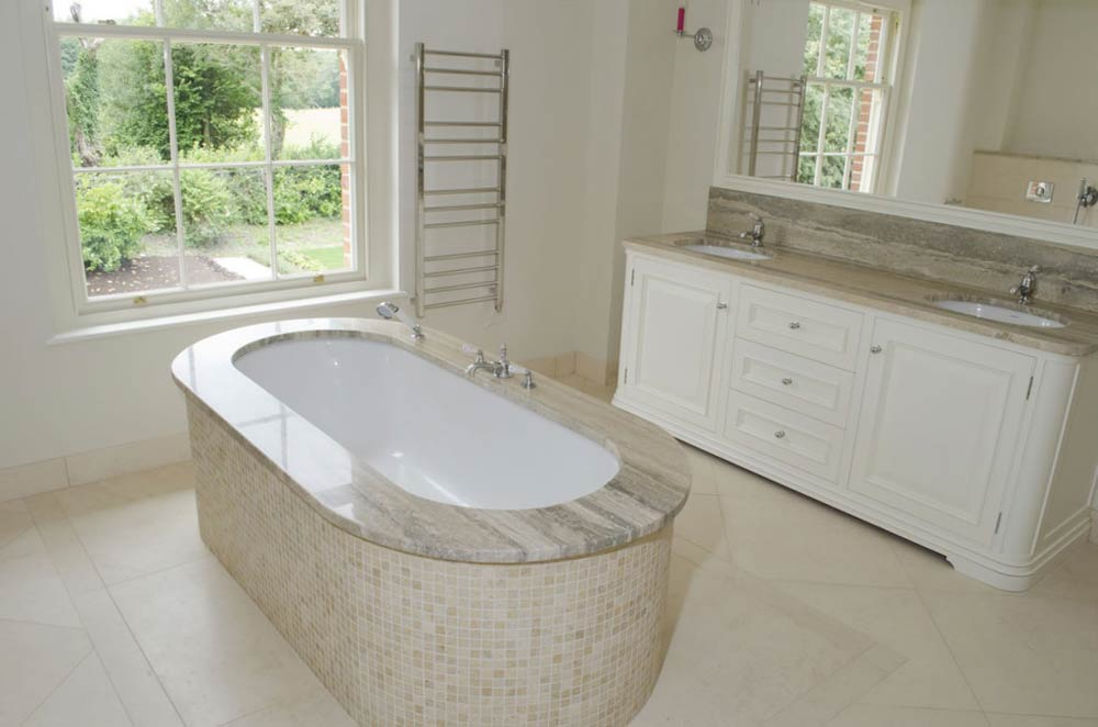 luxury interior marble bathroom photography in berkshire