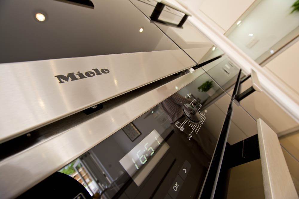 miele oven photography in prestigeous kitchen winchester