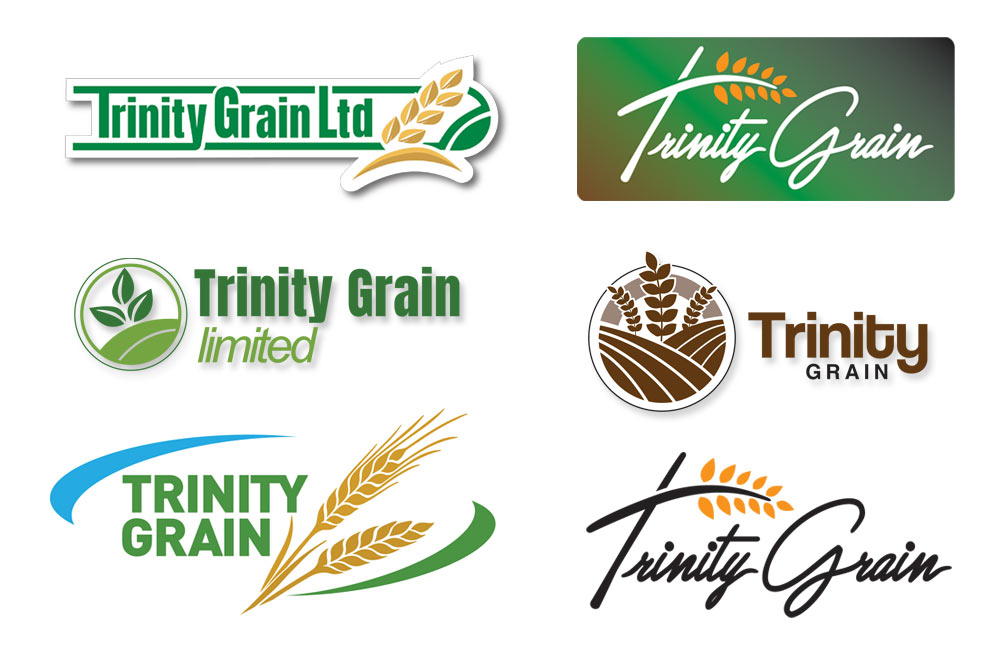 logo branding design ideas trinity grain by mark eslick graphics