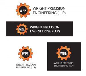 WPE wright precision engineering logo designs