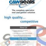 c and w seals company brochure cover