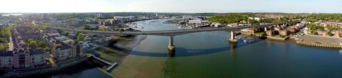 Drone-Photography-Itchen-Bridge-Southampton-Panoramic