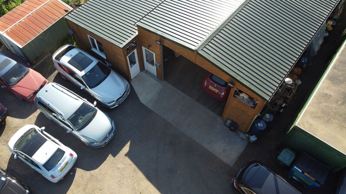 commercial-garage-architectural-drone-footage